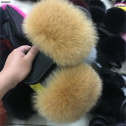 Girl's Accessories Apparel Accessories Glaforny 2018 Kids Real Fox Fur Girls Slipper Spring Summer Natural Fur Slides Children Indoor Outdoor Fashion Shoes Luxury Fox 2019 New Fashion Style Online