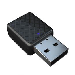 Adaptador estéreo teléfono celular online-Bluetooth 5.0 Adaptador Dispositivo Bluetooth Transmisor Receptor 3.5mm Audio Estéreo Sonido Música Dongle Para TV Teléfono Celular Auriculares Altavoces