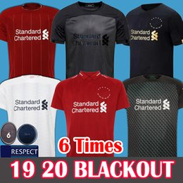 2019 camiseta de fútbol kit nuevo 2019 2020 Soccer Jersey Liverpool Camiseta de fútbol New Mohamed Salah Blackout 6 trophy 2019 LFC MANE Tops VIRGIL camiseta de fútbol FIRMINO Kits ALISSON Black out men + kids