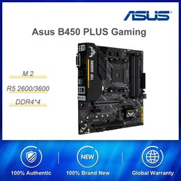 2019 placa mãe do hp pavilion 15 ASUS B450 PLUS mATX desktop Gaming motherboard suporta AMD Ryzen 2600/3600 Maximun Apoio 64G DDR4 RAM / SATA / M2 SSD interface