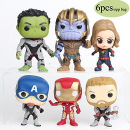 toy doctor doll Coupons - 2019 Superhero Action Figures Toys 7cm Marvel Avengers 4 Infinity War PVC Collection dolls Hulkbuster Iron Man Doctor Strange Kids Toys C21