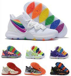 Concepts X Nike Kyrie 2019 Zapatos Kyrie Sponge Bobs TV PE Zapatillas De Baloncesto Para Hombre Barato 20 Aniversario Esponja Baby X 5s Des Chaussures