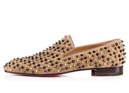 Elegante roten untere Loafers Luxus Partei Hochzeit Schuhe Designer schwarzes Lackleder Veloursleder Spitzen verzierte Freizeitschuhe für Herren