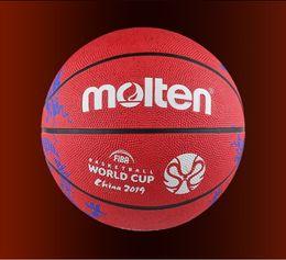 Fundido FIBA China 2019 Baloncesto Copa del Mundo de baloncesto tamaño 7 Red Dragon patrón de goma Juego de resistencia al desgaste pelota de baloncesto B7C1600 desde fabricantes