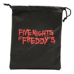 Porta zaino online-Cinque notti alle borse di Freddy Fnaf lettera Drawstring Bag spiaggia Carry Bag per i bambini giocattoli regalo di favore per bambini regalo string pouch zaino FFA2089
