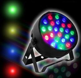 controladores de iluminación de escenario Rebajas Luz de escenario Led 18x3W 54W 85-265V Alta potencia RGB Par de iluminación con DMX 512 Master Slave Led Auto DJ Controller