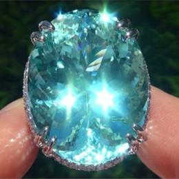 morganite kristall Rabatt 2019 heißer Verkauf Grün Kristall Stein Ring Splitter Farbe Oval Morganite Ringe für Frauen Hochzeit Schmuck Valentinstag Geschenk L5X717