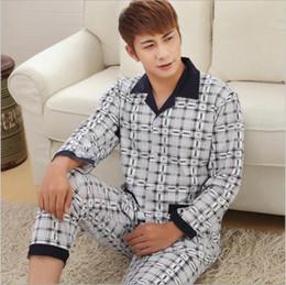 cb294d36d9650 5 цветов осень мужская пижамы мужская с длинными рукавами кардиган хлопок  пижамы мужской корейский пижамы главная одежда