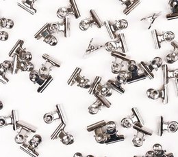 12 Pz / set Mini Bulldog Clips Lettera Clip In Acciaio Inox Metallo Argento Legante Legante Grip Clip Morsetto 22mm Ufficio Forniture Per Utensili da
