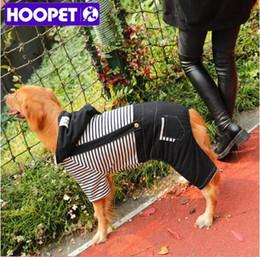 grands vêtements de chien Promotion Vêtements rayés pour animaux de compagnie pour chien grand hiver chaud épais vêtements pour chiens Polaire Hoodie Jumpsuit Pantalons Vêtements quatre pieds Big Dog vêtements 3XL-7XL
