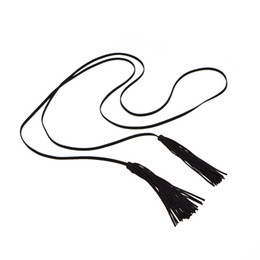 Collares de lana online-Tassel wool chain Necklace Strand Long Statement Jewelry for Women