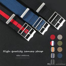 Relojes correas largas online-22mm Deportes Nato Largo Nylon para Black Bay Pelagos Reloj Hombre Reloj impermeable Correa Banda de reloj Pulsera Negro Azul Gris con herramientas