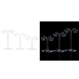 2019 ensembles d'affichage de vitrine de bijoux 1 Set Boucles D'oreilles Étagère Support D'affichage Transparent Acrylique Vitrine Porte-Bijoux Titulaire Organisateur Cadeaux Arbre Forme ensembles d'affichage de vitrine de bijoux pas cher