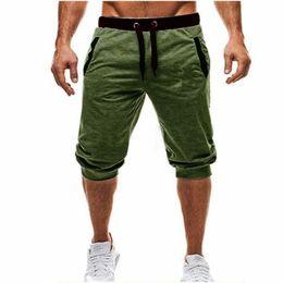 justin ceintures Promotion Mens Baggy Jogger Casual Slim Harem Shorts Doux 3/4 Pantalons Mode Nouvelle Marque avec Logo Hommes Pantalons De Survêtement D'été Confortable Homme Shorts M-3XL