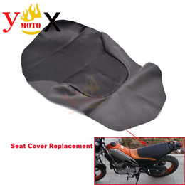 motorcycle seat cushions Promo Codes - Black PU Leather Off Road Dirt Bike Motorcycle Seat Cover Cushion Waterproof For Yamaha Tricker XG250 XG 250