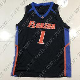 0711b34e5e3 Cheap custom Vintage Florida Gators 1 Basketball NCAA Black Jersey Stitched  Customize any number name MEN WOMEN YOUTH XS-5XL