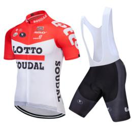 Shorts de loto en Ligne-LOTTO 2019 Maillot De Cyclisme Ensemble À Manches Courtes Vélo D'été VTT Vêtements Pro Team Ropa Ciclismo Maillot Et Shorts Gel Pad