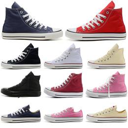 White women s canvas shoes slip on-line-Converse de Sapatos de Lona tênis de skate ocasional das mulheres dos homens 1970 s preto branco azul marinho vermelho moda clássico deslizamento na plataforma de skate sapato