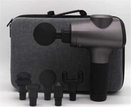 Электрический фасциальный массажный пистолет полное тело перкуссионный массажер мышцы вибрационный расслабляющий высокочастотный глубокий релакс боли фитнес-устройство бесплатно DHL от