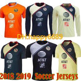 d37641509 2018 2019 Mexico Club America Soccer Jersey 18 19 C.BLANCO D.BENEDETTO  R.SAMBUEZA Long Sleeve Soccer Uniforms