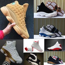 Chaussures de basket marron en Ligne-2019 13 13s Hommes Chaussures de basketball Race Blé Chicago XII Melo Classe de 2002 Black Cat Altitude Brown CP3 Domicile DMP 7-13