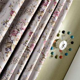 Rideau d'occultation imprimé floral haute précision moderne pour salon chambre fenêtre romantique drapé élégant tulle brodé ? partir de fabricateur