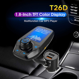 Deutschland Bluetooth FM Transmitter Audio Adapter Empfänger Drahtlose Freisprecheinrichtung Voltmeter Car Kit TF Karte AUX 1,44 Anzeige KM18 Schwarz Matt Versorgung