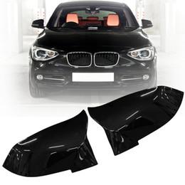 bmw rückspiegel Rabatt 4 farbe Paar Glanz Schwarz Rückspiegelabdeckung Für BMW F20 F21 F22 F30 F32 F36 X1 F87 M3 2012 2013 2014 2015 2016 2017