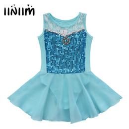 diamanttrikot Rabatt iiniim Kind-Mädchen-Sequined Diamond Princess Tutu Ballett-Tanz-Rock Leotard Kleid Fantasie-Kostüm-Party Kind Ballettdancer