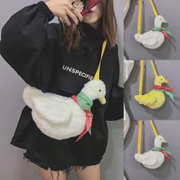 kawaii sacs à bandoulière Promotion Kawaii Lolita en peluche écharpe sac de canard Messenger sac à bandoulière cadeau bandoulière