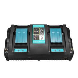 быстрые батареи Скидка Двухпортовый Твин зарядное устройство для Makita DC18RD Li-иона LXT 7.2V-18V Fast Rapid