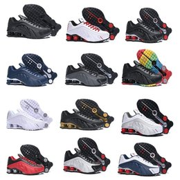 hot sale online 5b8c5 b0538 2019 chaussures r4 Shox R4 Triple Black 2019 plus récentes chaussures de  course shox pour hommes
