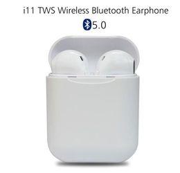 Argentina I11 TWS Mini Auricular Bluetooth Inalámbrico Auricular Auricular Bluetooth 5.0 Versión Estéreo Con Caja de Carga Mic para Todo Apple Apple teléfono nuevo artículo Suministro