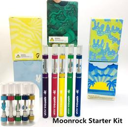 2019 caja mod rda kit Moonrock Claro Starter Kit de batería 350mAh pluma Vape con 0,8 1,0 ml de cerámica Bobinas Cartuchos de prensa en extremidades 510 kits de cigarrillos E-Cartuchos
