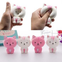 2019 brinquedo do gato do bebê O Hotsale Infantil Crianças Brinquedo Do Bebê Pão Mole Pequeno Gato Suave Macio Grande Presente brinquedo do gato do bebê barato