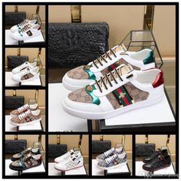Canada 18ss hommes chaussures de sport sneaker low top italie marque ace abeille rayures chaussure de marche formateurs de sport chaussures pour hommes Offre