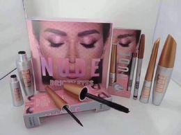 Mais novo Hot Beleza Maquiagem Eye kit 3in1 NUDE Mascara Delineador 3 pçs / set Eye Cosméticos Frete grátis cheap free beauty kits de Fornecedores de kits de beleza grátis