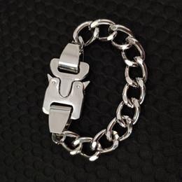 19ss Mais Recente Cadeia De Metal ALYX colar Cintos de pulseira Homens Mulheres Hip Hop Ao Ar Livre ALYX Rua Acessórios de Fornecedores de caixa de punho branco