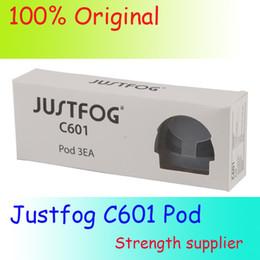 100% Original Justfog C601 Pod 1.7 ml Tanque Atomizador Cartucho de Substituição Com 1.6ohm Bobina Para Portátil C601 Starter Kits Bateria Fácil de Fornecedores de dupla bobinas de felpa de algodão