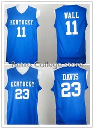 53e5541d40ae Basketball Jerseys Men Kentucky Wildcats College 1 Skal Labissiere 11 Wall  John 23 Davis Anthony 4 Rajon Rondo