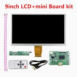 lcd display módulo carro Desconto 9 polegadas 1024 * 600 Mini Matrix Screen Display TFT LCD monitor HDMI pequeno controlador de entrada BoardL Controlador para o painel Raspberry Pi