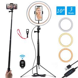 """Кольцевые луковицы онлайн-Ring Light 10 """"Selfie Light Ring с регулируемым кронштейном Пульт дистанционного управления 120 лампочек Ringlight для YouTube"""