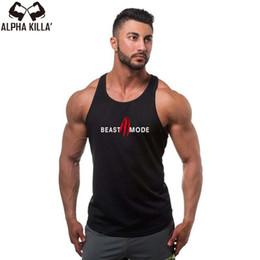 c6e7d51590e794 New Arrival Stringer Tank Top Men Bodybuilding Fitness Men s Singlets Tank  Top Shirts gyms Clothes beast mode  105704 men gym stringers for sale