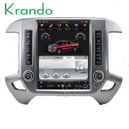 """Chevrolet navegación con pantalla táctil online-Krando Android 7.1 12.1 """"estilo de Tesla radio de DVD vertical para automóvil Para Chevrolet Silverado y GMC Sierra 2014-2018 reproductor de navegación"""