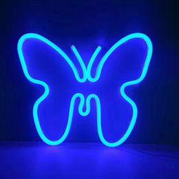 Canada Butterfly Blue Enseigne Au Néon 19