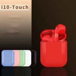 пластиковые блоки замка для игрушек Скидка i10-Touch TWS Беспроводная Bluetooth 5.0 стерео гарнитура Водонепроницаемые спортивные наушники Наушники Наушники Зарядное гнездо для смартфона DHL A52503
