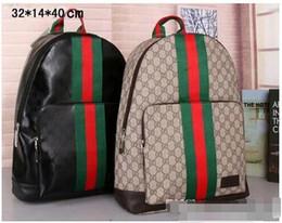 mochilas baratas Rebajas Marca de moda Mochila de diseño 2019 Nueva G hombres mujeres mochilas Bolsas de lujo Bolsas de la escuela de la raya unisex G Bolsas de viaje