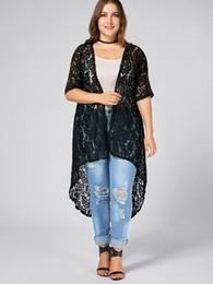 1582189f7b2 Wipalo Summer Autumn Jackets Plus Size Lace Crochet Cardigan Women S Lace  Sweet Crochet Knit Long Open Front Outerwear summer jacket crochet outlet