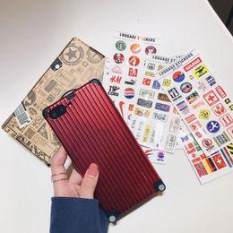 amoureux de l'iphone Promotion Classique De Haute Qualité Bagages Cas De Téléphone Valise Pour iphone XS 6 6S 7 8 plus De Luxe Valise DIY amoureux Couverture Cas En Métal Couverture