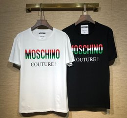 2019 swing uomini 2019 Estate New Moschin O Tee in cotone a maniche corte traspirante Uomo Donna Moschinos Swing Orso all'aperto casual Streetwear T-shirt sconti swing uomini